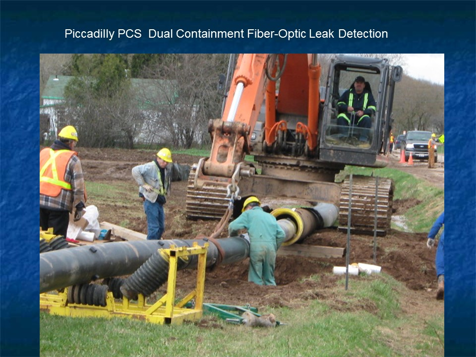 Installation of fiber-optic leak detection hardware