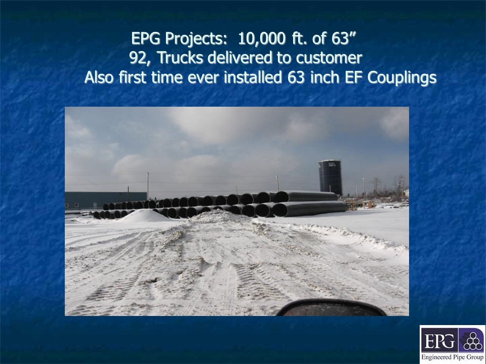 EPG projects - rolls of pipe