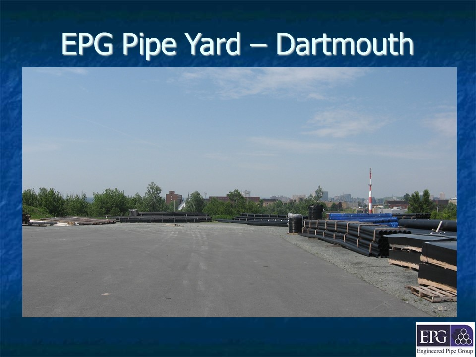 EPG pipe yard