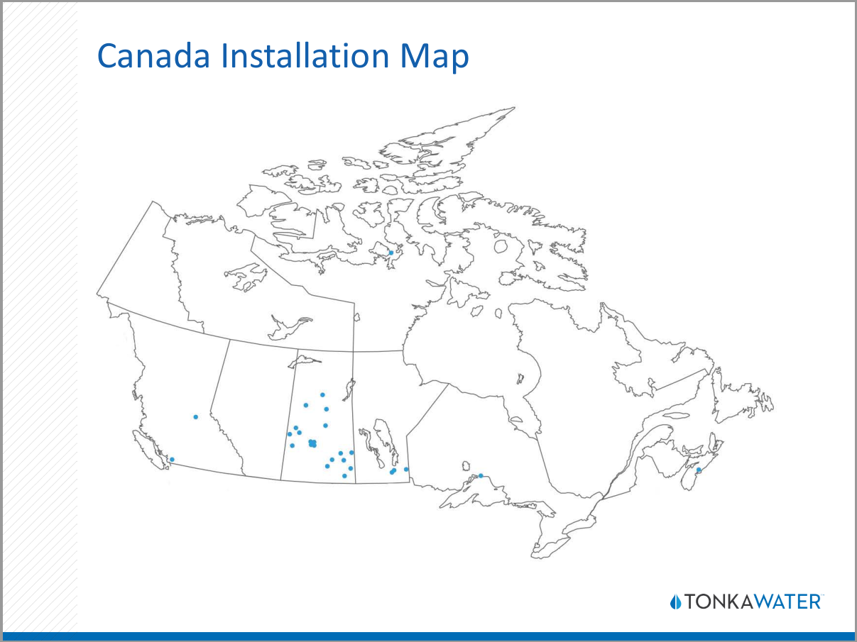 Tonka Water Installation Map